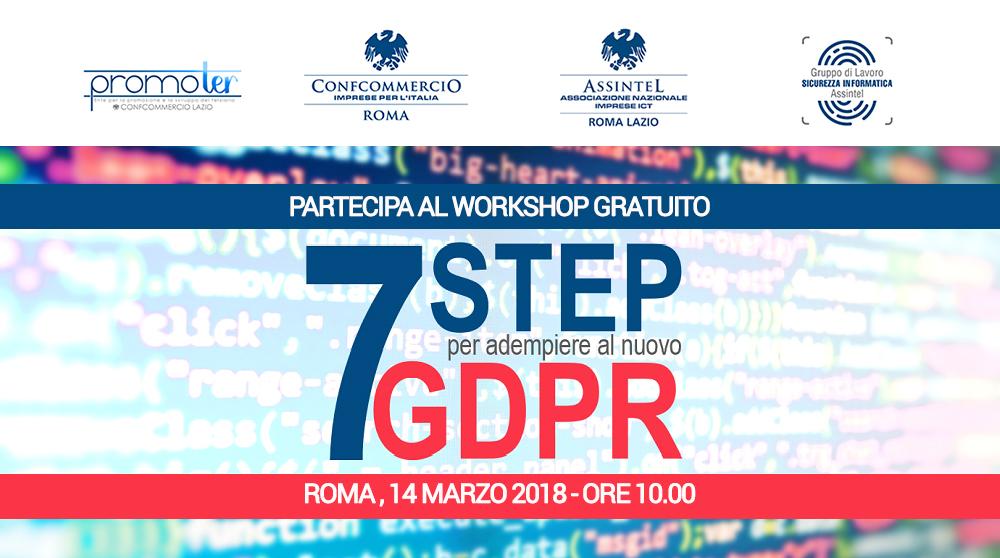 7 step per adempiere al nuovo GDPR